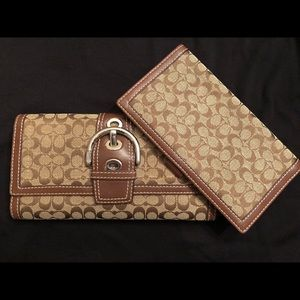 Large Coach Checkbook Wallet